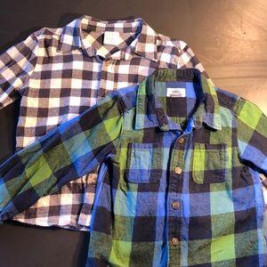 Bundle: 2 Plaid Flannel Shirts